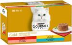 QUALIPET Gourmet Gold Raffiniertes Ragout - Rind, Huhn, Lachs, Thunfisch 4x85g