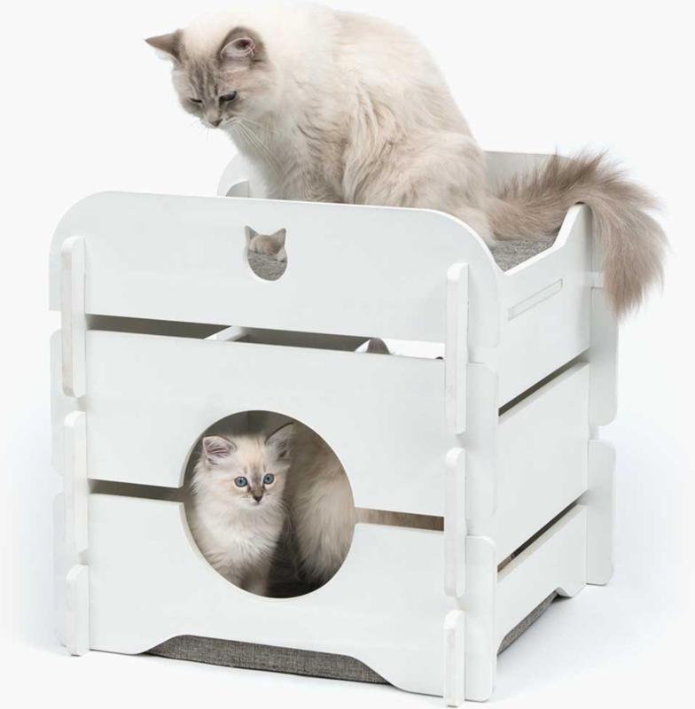 Catit Meuble pour chat Vesper Cottage blanc