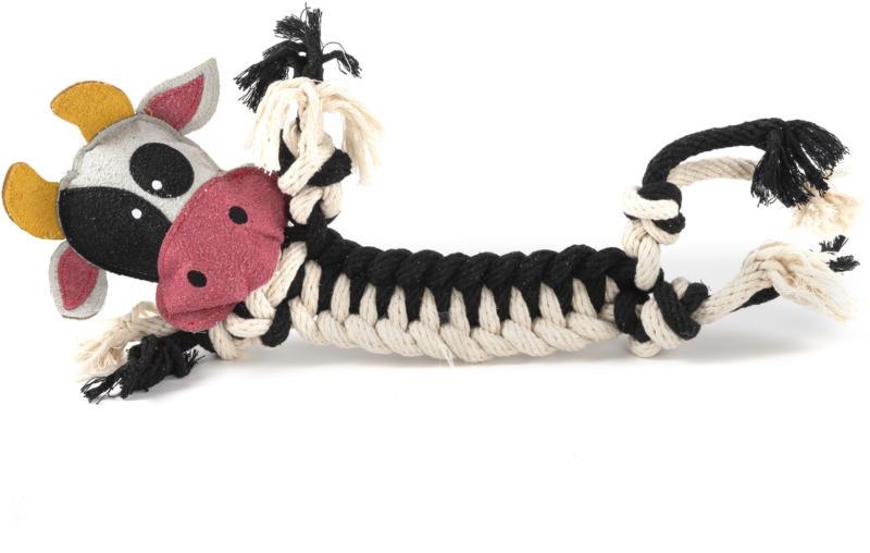 Freezack Hundespielzeug Kuh aus Seil L