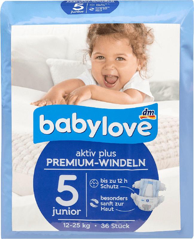 babylove Windeln Premium aktiv plus Größe 5, junior 12-25kg