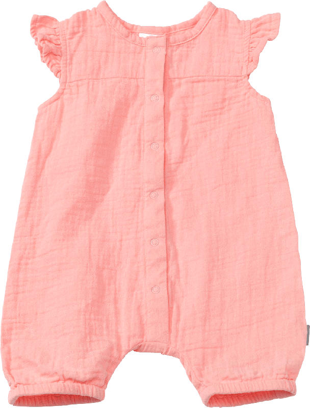 PUSBLU Baby Schlafanzug, Gr. 74/80, in Bio-Baumwolle, koralle
