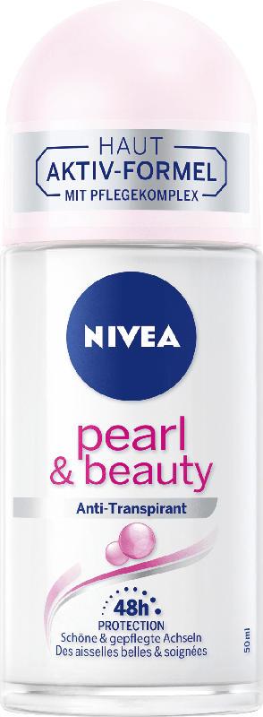 NIVEA Deo Roll On Antitranspirant pearl & beauty