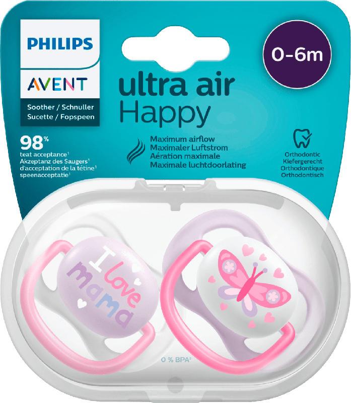 Philips AVENT Schnuller ultra air Silikon, 0-6 Monate