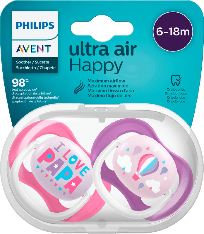 Philips AVENT Schnuller ultra air Silikon, 6-18 Monate