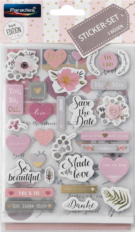 Paradies Sticker-Set Liebe