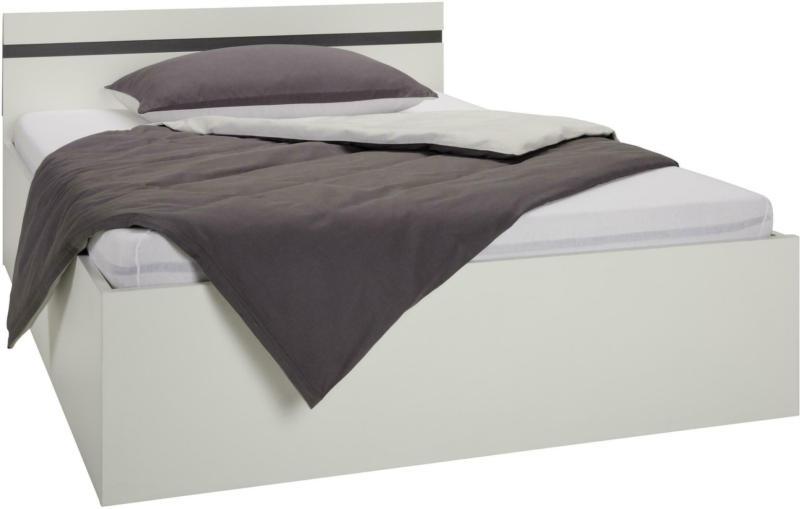 Bett in Weiß mit Bettkasten