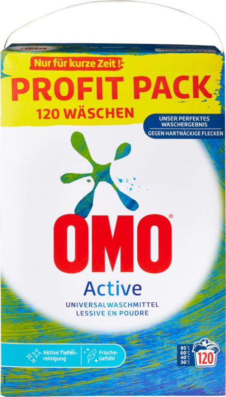 Omo Waschpulver Active , 120 Waschgänge, 7,8 kg