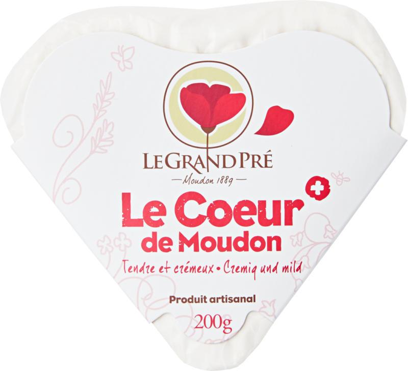 Le Grand Pré Weichkäse Le cœur de Moudon, 200 g
