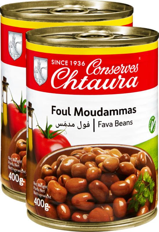 Chtaura Foul Moudammas Bohnen in Salzlake, 2 x 400 g
