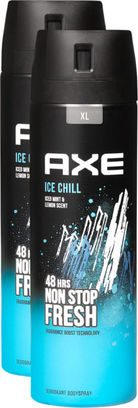 Axe Deo Bodyspray Ice Chill , 2 x 200 ml