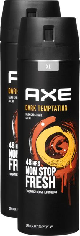 Axe Deo Bodyspray Dark Temptation , 2 x 200 ml