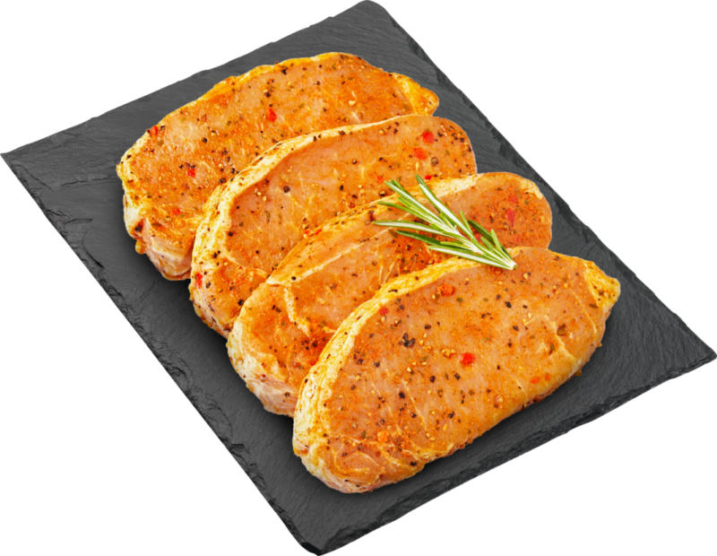 Steak de porc BBQ Denner, Filet, mariné, Suisse, 4 x env. 150 g, les 100 g