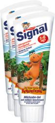 Gel dentifricio speciale per denti da latte Kids Signal, 3 x 75 ml