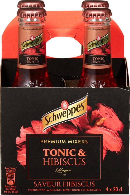 Schweppes Tonic Hibiscus  , 4 x 20 cl