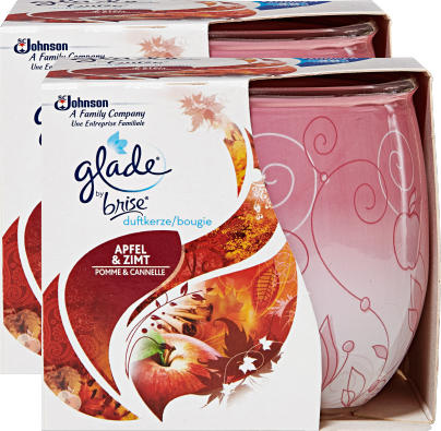 Bougie parfumée Glade by Brise, Pomme & Cannelle, 2 pièces