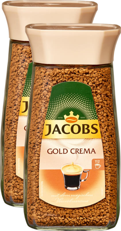 Café instantané Jacobs Gold Crema, 2 x 200 g