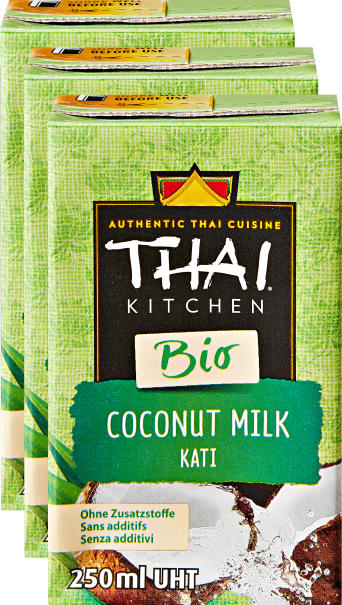 Thai Kitchen Bio-Kokosnussmilch, 3 x 250 ml