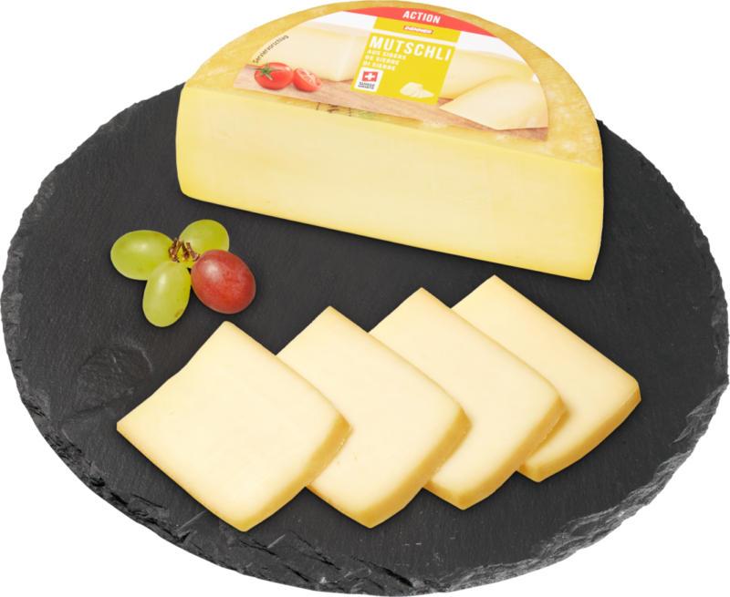Formaggio Mutschli Denner, a pasta semidura, di Sierre, ca. 350 g, per 100 g