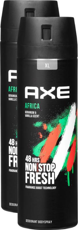 Axe Deo Bodyspray Africa, 2 x 200 ml