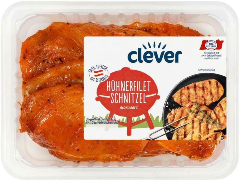 Clever Hühner-Filetschnitzel Mariniert