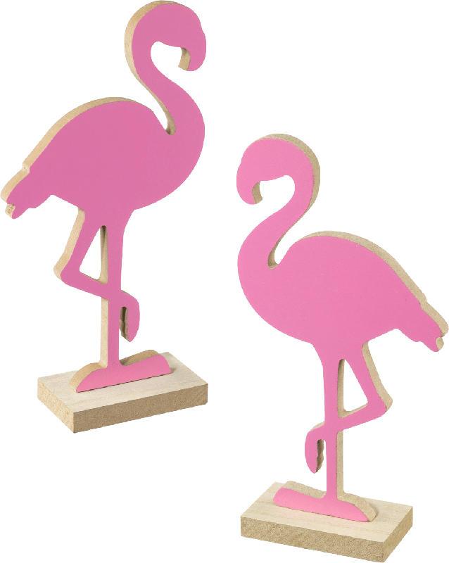 Dekorieren & Einrichten Holzaufsteller Flamingo pink