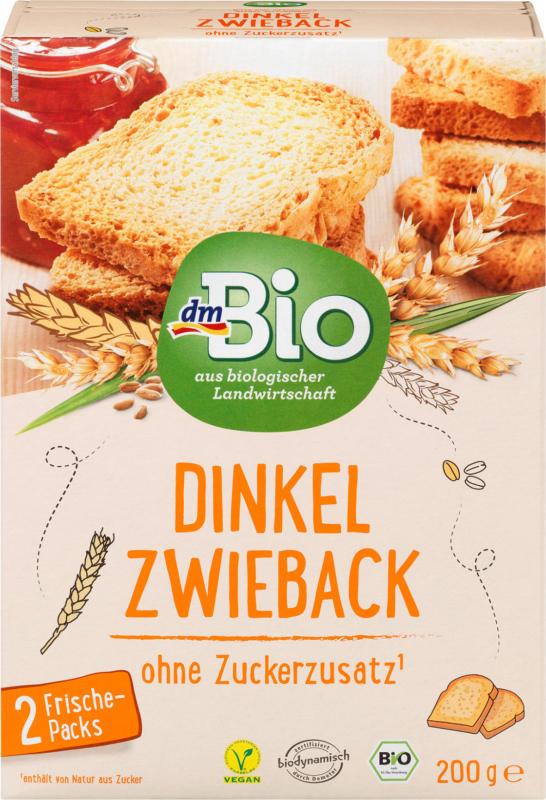 dmBio Zwieback, Dinkel
