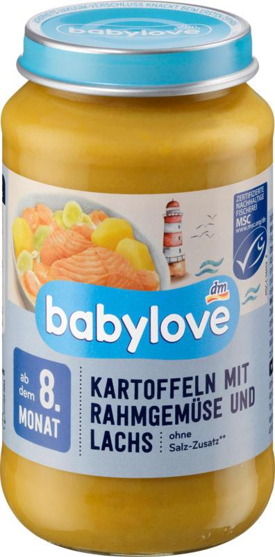 babylove Menü Kartoffeln mit Rahmgemüse & Lachs ab dem 8. Monat