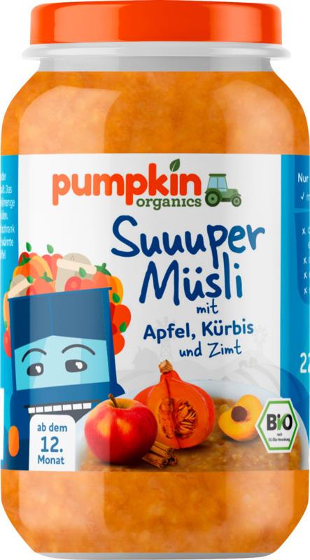 pumpkin organics Müsli mit Apfel und Kürbis