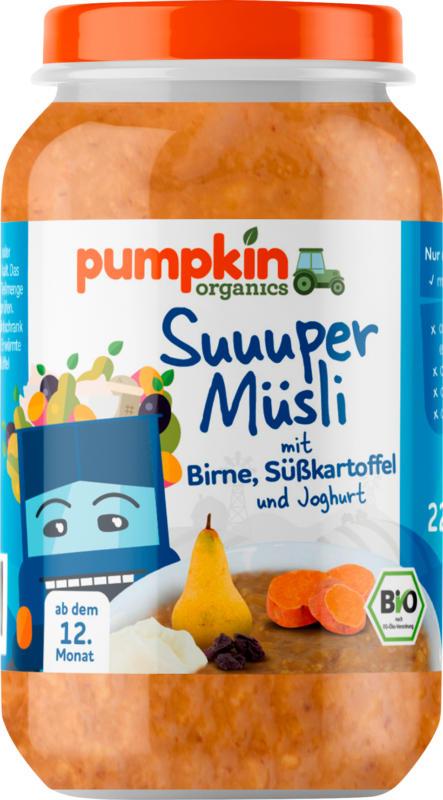 pumpkin organics Super Müsli: Süßkartoffel, Birne & Joghurt, ab 1. Jahr