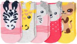 5 Paar Baby Sneaker-Socken mit Tier-Motiven (Nur online)