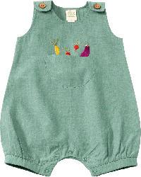 ALANA Baby Spieler, Gr. 68, in Bio-Baumwolle, grün