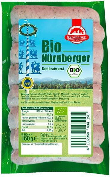 Bio Nürnberger Rostbratwurst