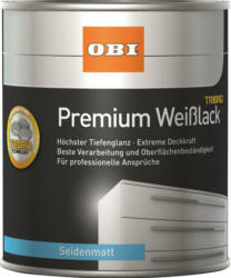 OBI Premium Weißlack Tribrid seidenmatt Weiß