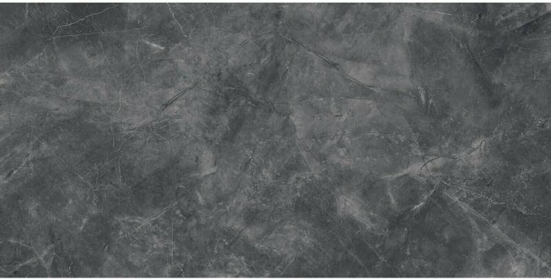 Bodenfliese Marble Messina Feinsteinzeug Schwarz Glänzend 30 cm x 60 cm