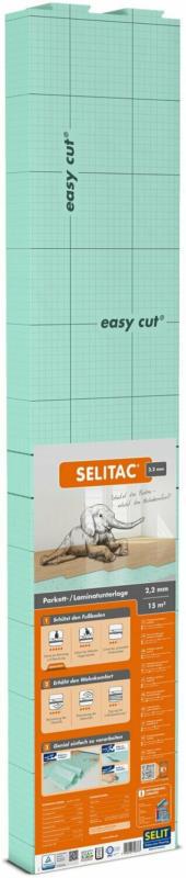 Selitac Parkett- und Laminatunterlage 2,2 mm 15 m² Trittschalldämmung bis 20 dB