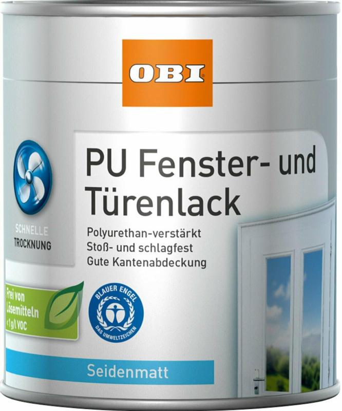 OBI Fenster- und Türenlack Weiß seidenmatt 375 ml