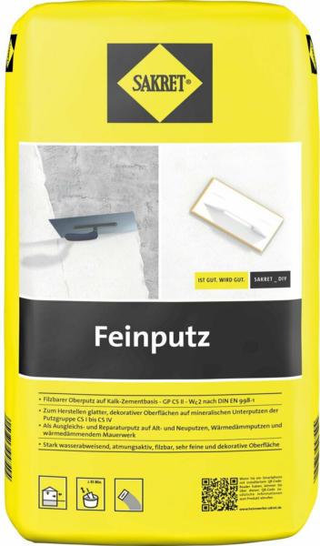 Sakret Feinputz 25 kg