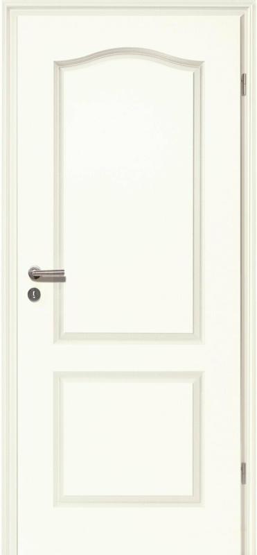 Zimmertür Brillant Classic 4002-Bogen Weißlack 90 cm x 203 cm, Rechts