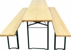 Bierzelt-Garnitur klappbar mit 50 cm breitem Tisch