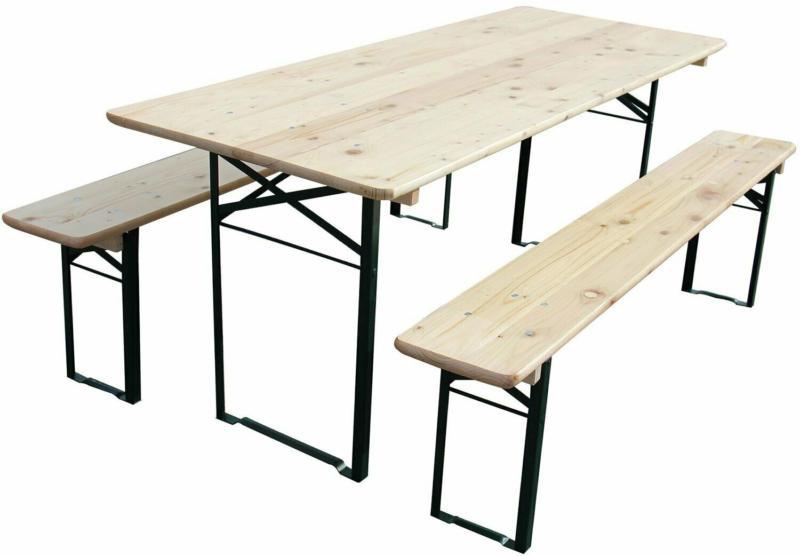 Bierzelt-Garnitur klappbar mit 70 cm breitem Tisch