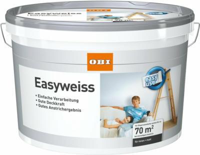 OBI Innen- Wandfarbe Easyweiss matt 10 l