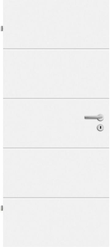 Zimmertür Fila 5 Weißlack 73,5 cm x 198,5 cm Anschlag Links