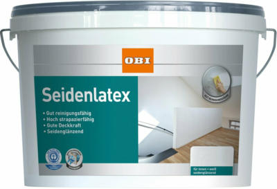 OBI Seidenlatex Weiß seidenglänzend 2,5 l