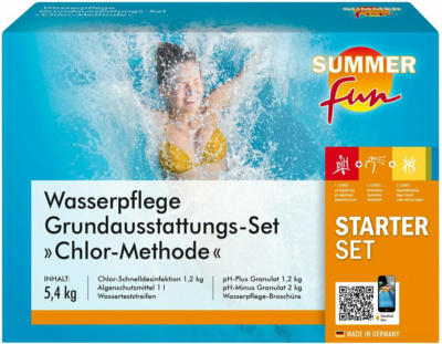 Summer Fun Wasserpflege Grundausstattungs-Set Chlor Maxipack 5,4 kg