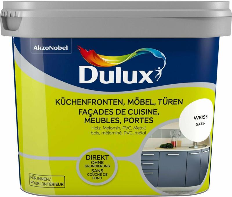 Dulux Fresh Up Lack für Küchen, Möbel und Türen Satin Weiß 750 ml