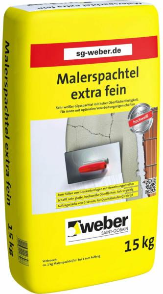 Saint-Gobain Weber Malerspachtel extra fein Weiß 15 kg