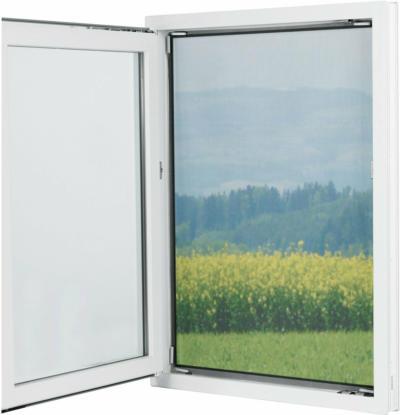 Easymaxx Fenster-Moskitonetz Magic Klick Schwarz 150 cm x 130 cm