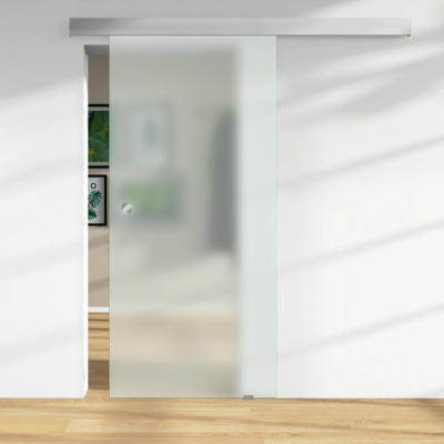 Glasschiebetür ESG Satinato Floatglas DIN LI/RE 2060 x 940 x 8 mm