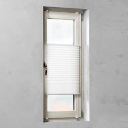 Plissee verspannt Weiß 45 cm x 130 cm