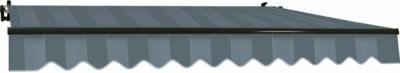 Gelenkarmmarkise Aventura 300 x 200 cm Blau-Grau Gestreift